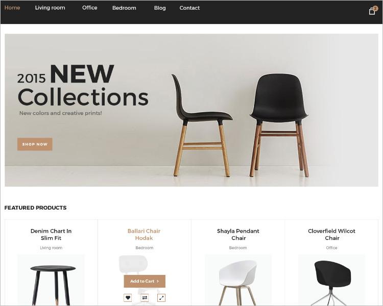 Sample Furniture Boostrape Template