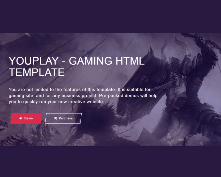 Sample Game Bootstrap Template