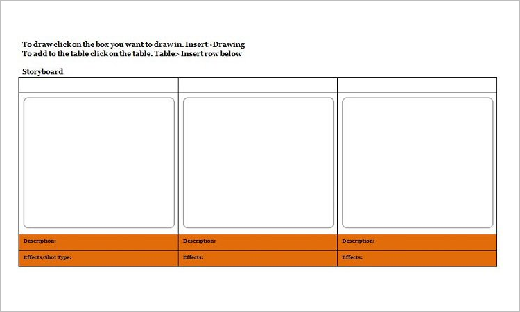 Sample Storyboard Format Template