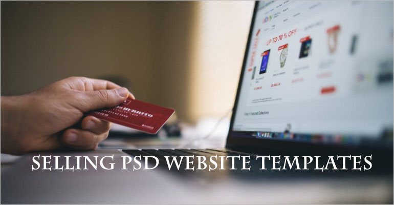 Selling Website PSD Template