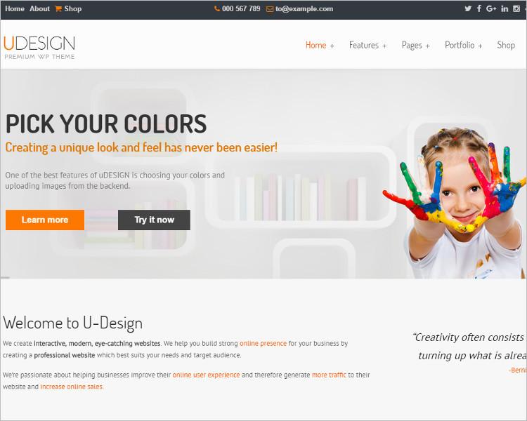Selling WordPress Design Template
