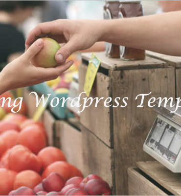 Selling WordPress template