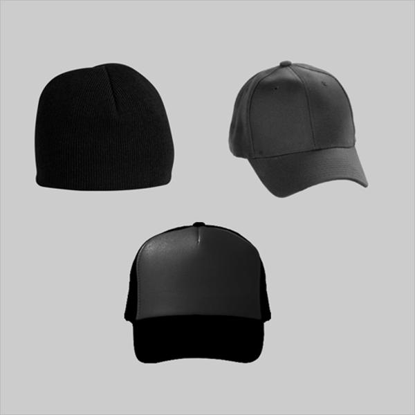 Set Of Cap Mockup Design