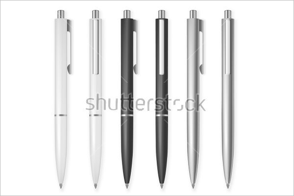 Set Of Pen Mockups