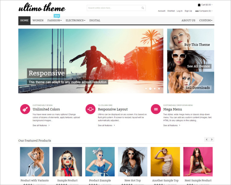 Shopping Magento Selling Template