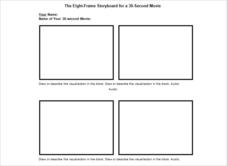 70 storyboard templates free word pdf ppt documents for Film storyboard template word