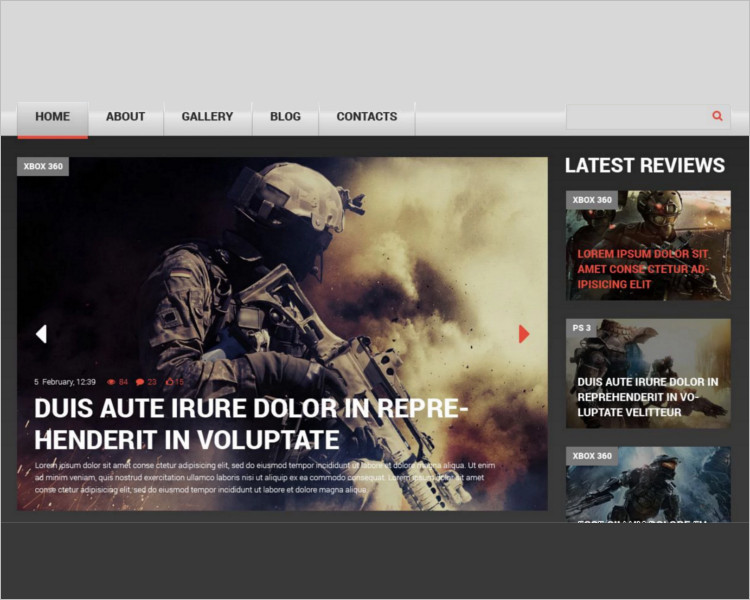Simple Bootstrap Game Template