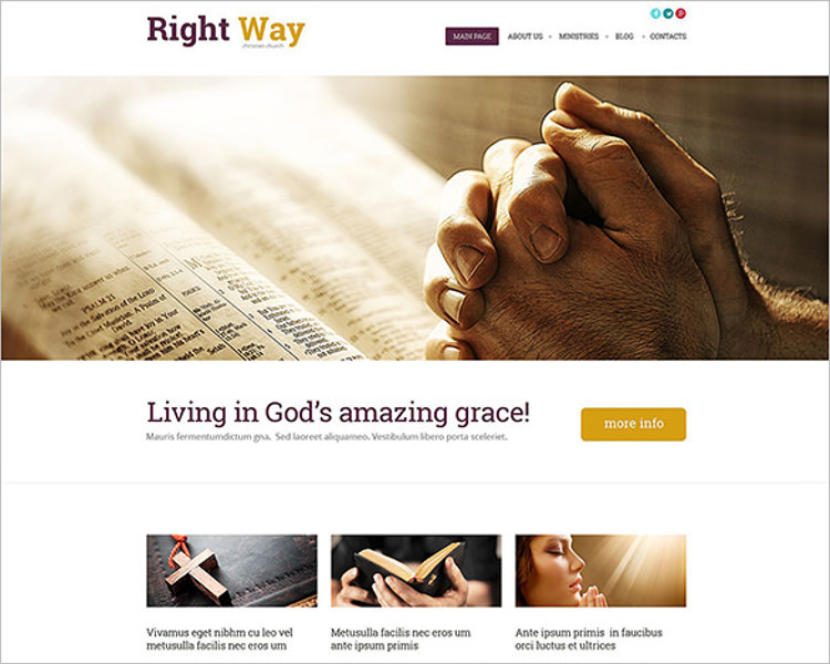 Simple Church Bootstrap Template