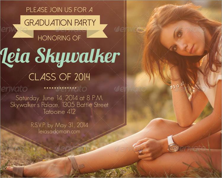 Simple Graduation Party Invitation