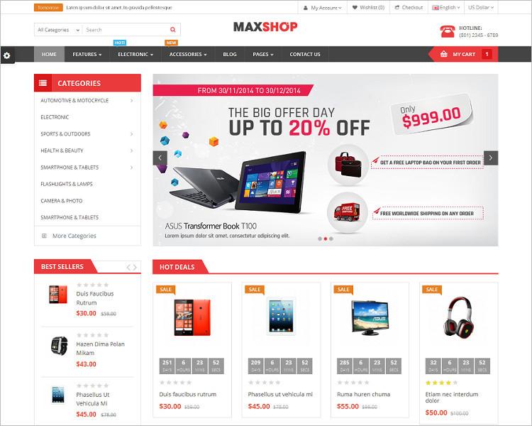 Simple Selling Website PSD Template