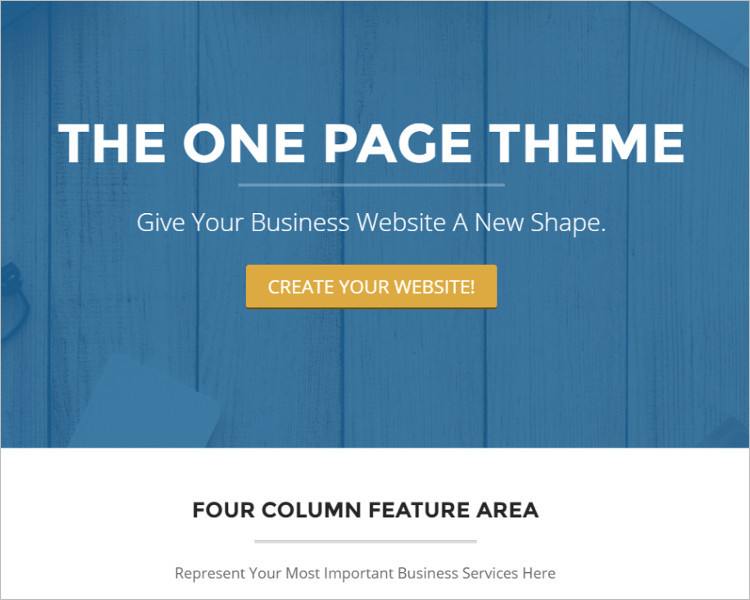 Single Page Design Website Template