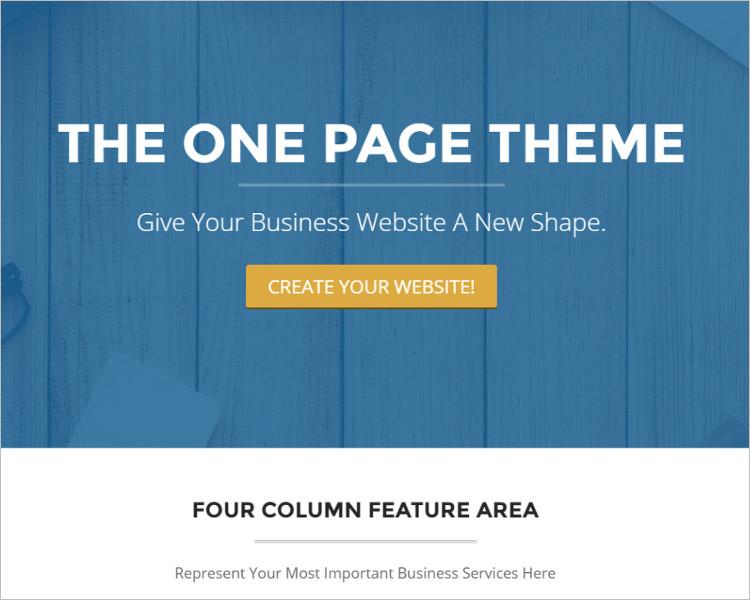 Single Page Design Website Template