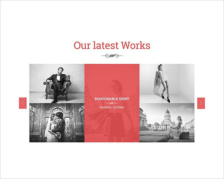 Single Page Fashion Website Template