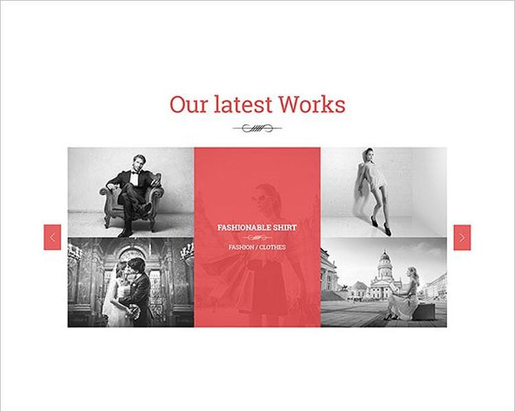 Single Page Fashion Website Template