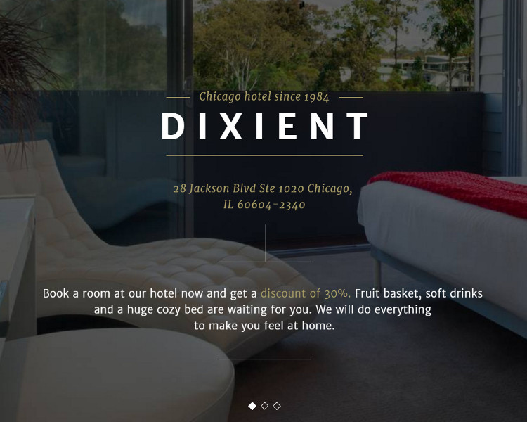 Single Page Hotel Website Template