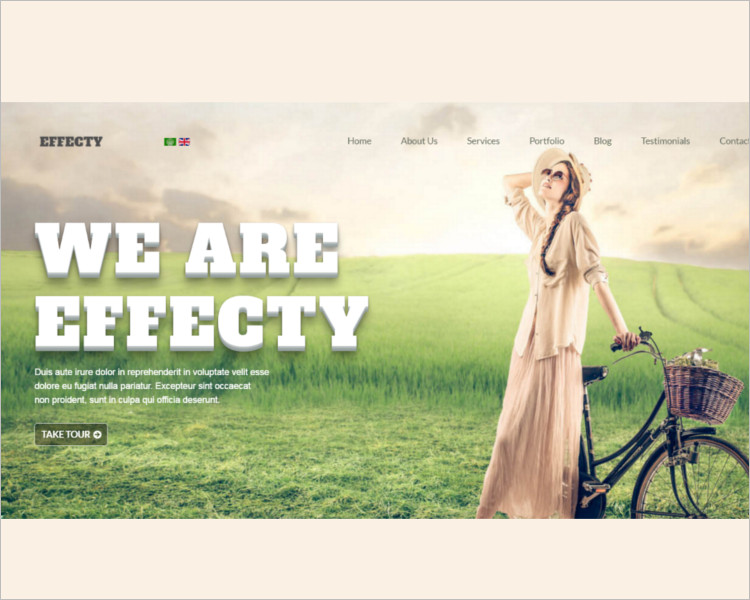 Single Page Joomla Website Template