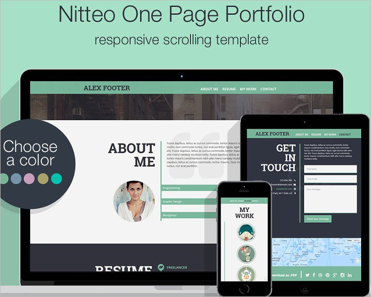 Single Page Model website Template