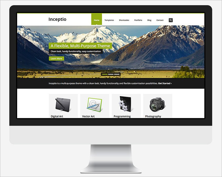 Single Page Website Free Template