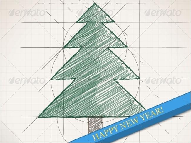 Sketch Christmas Background Design