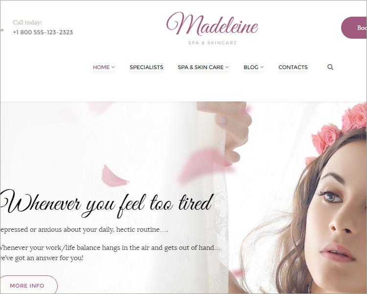 Skincare WordPress Theme