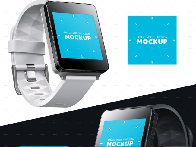 Smart Square watch Design Mockup Premium Downloadable