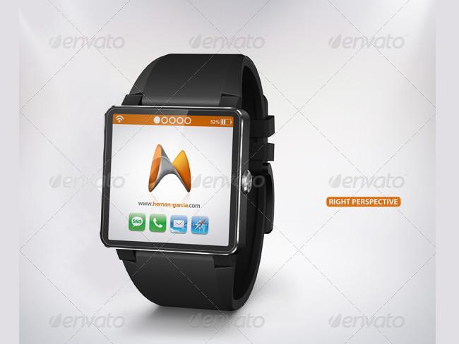 Smart Watch Mockup with Digital iWatch Screen