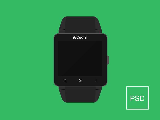 Sony Smartwatch Free PSD Mock Up