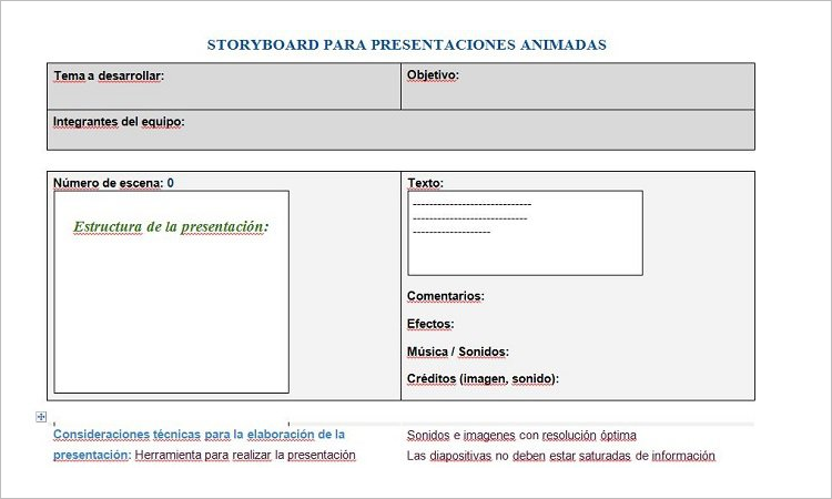 Storyboard Presentation Example
