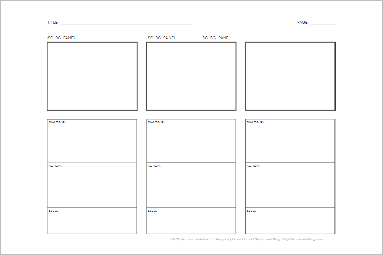 Storyboard Template Free Download