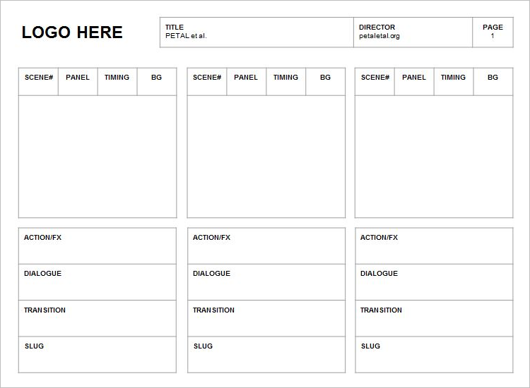 Storyboard Template In PPT