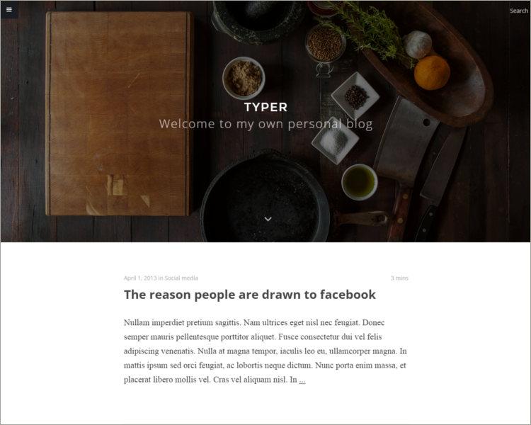 Striking Blogging Theme