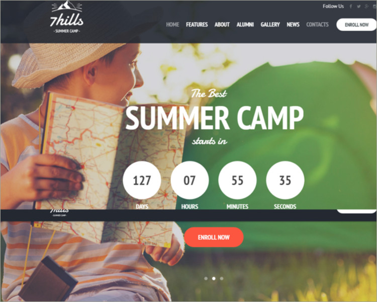 Summer Camp WordPress Theme