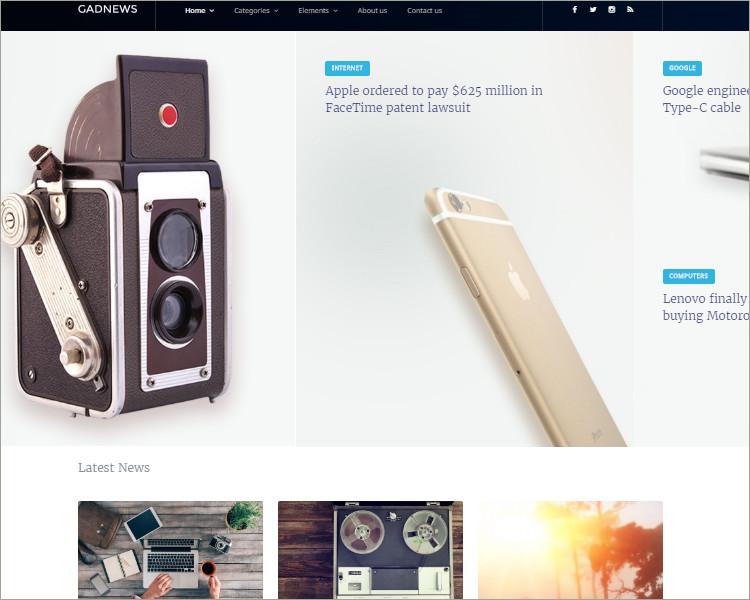 Technology Review Magazine WordPress Theme