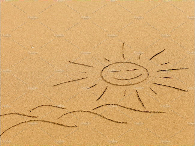 The sand of the beach Drawing