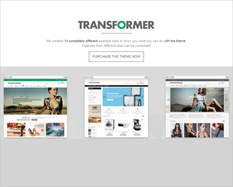 Transformer E-commerce Template