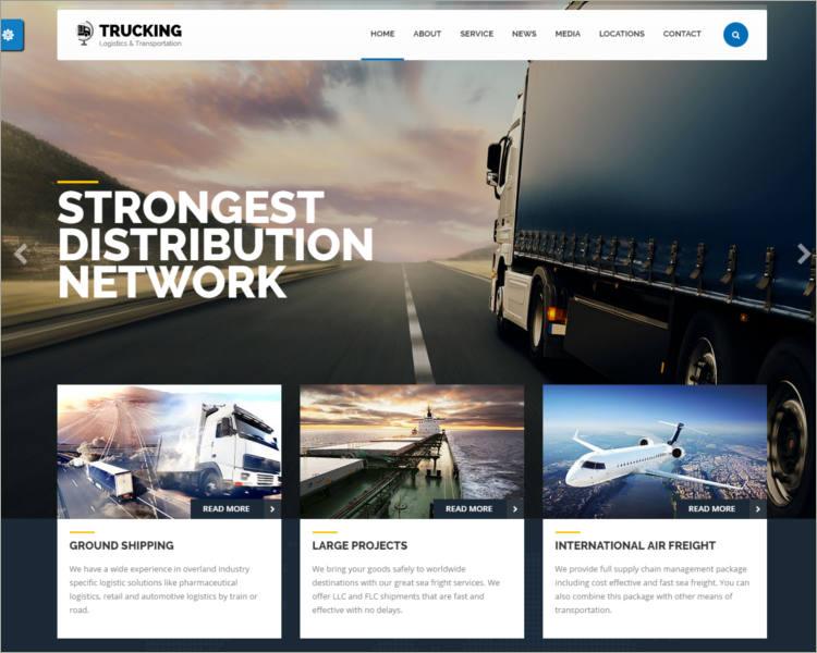 Transportation & Logistics WordPress theme