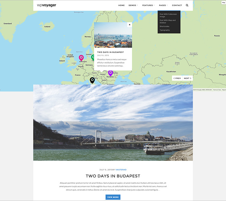 Travel WordPress Themes Premium