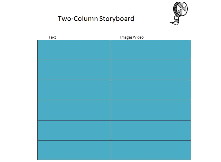 Two Column Storyboard Template