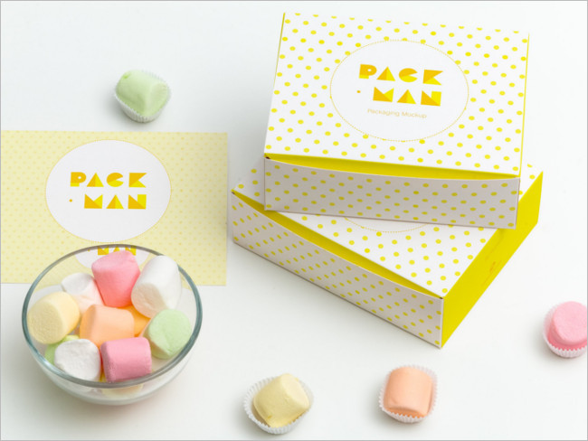Two Stacked Paper Box Mockups for Packaging