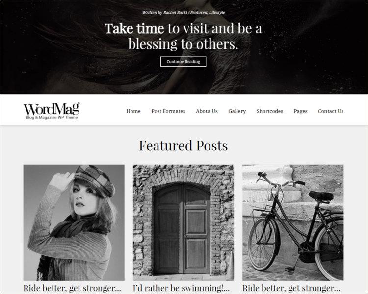 Typography Focused WordPress Magzine Theme