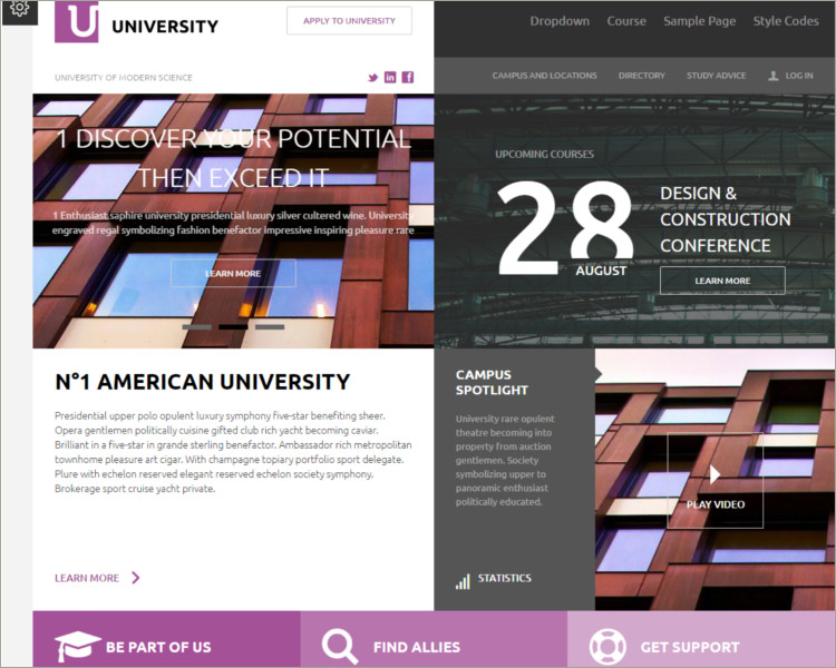 University - Responsive Moodle Theme
