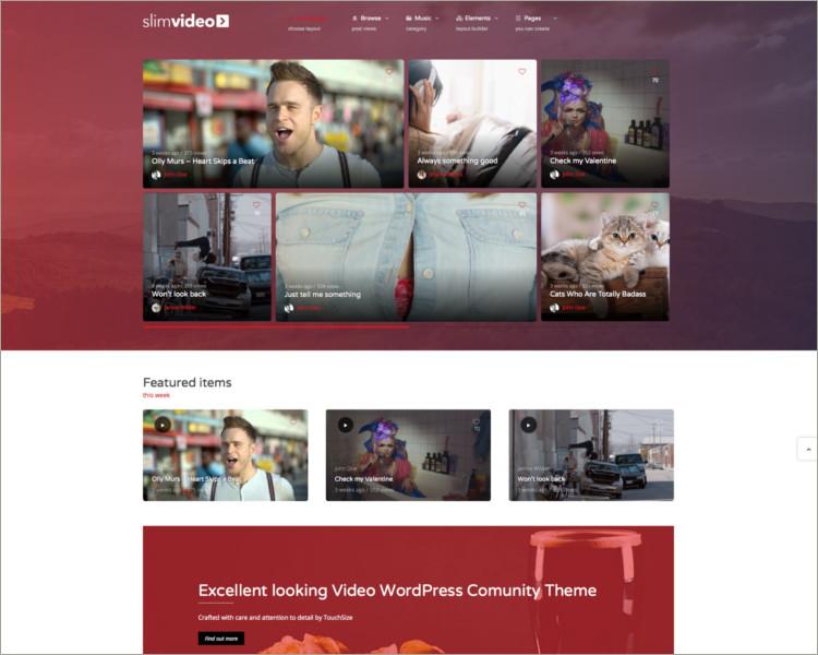 Video Blof WordPress Theme