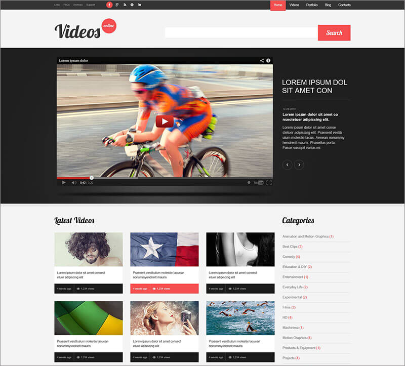 Video-Content-WordPress-Theme