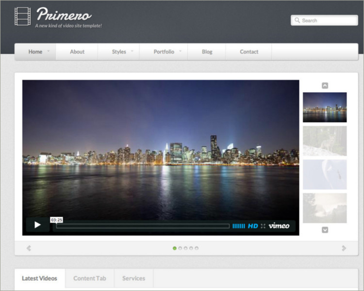 Video blog Site Template