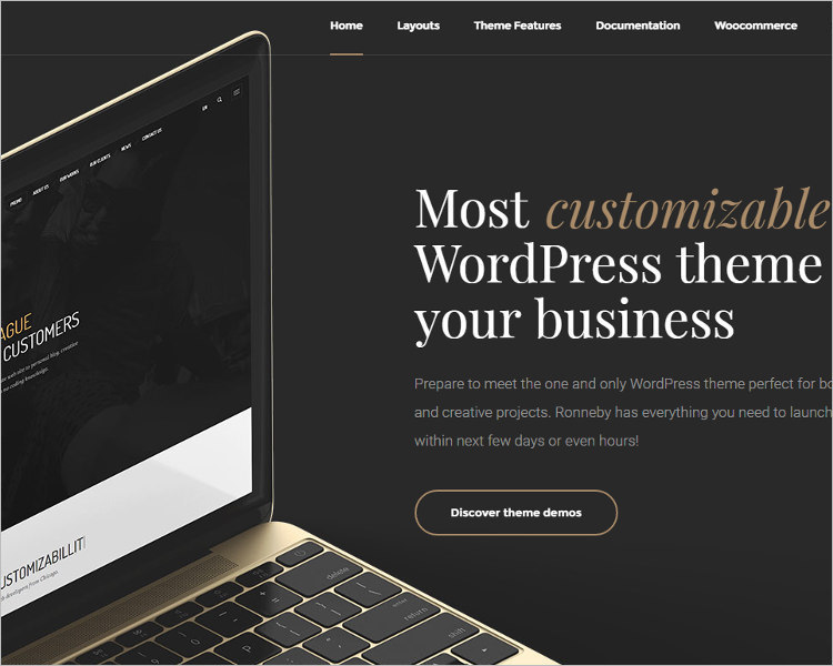 Vintage Parallax WordPress Theme