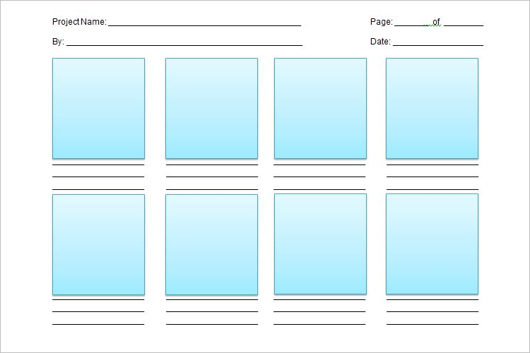 Word Storyboard Template
