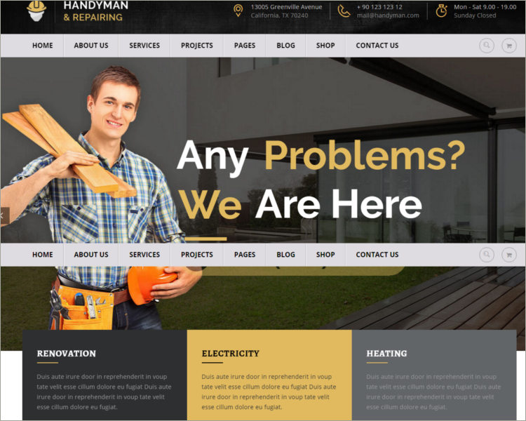 WordPress Carpenter Theme