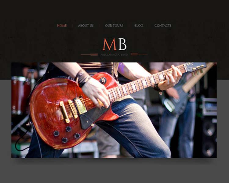 WordPress Music Gallery Template