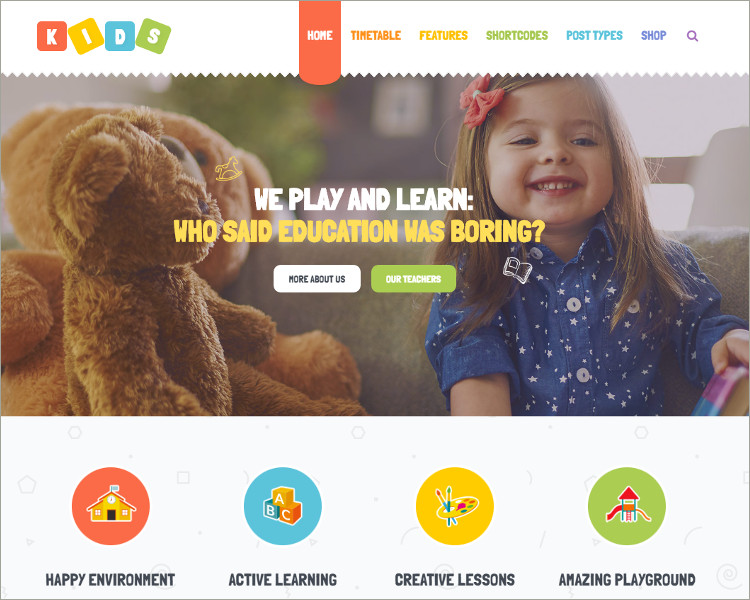 WordPress Theme for Children