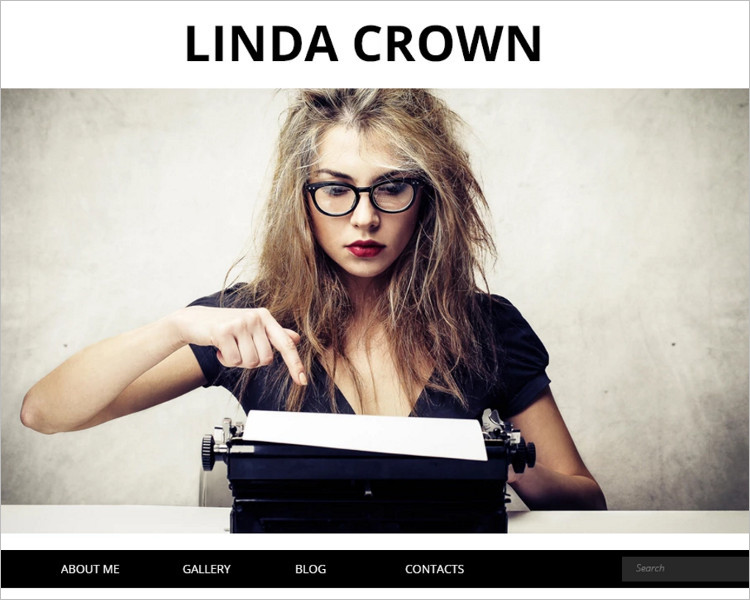 Writer Page Bootstrap Template
